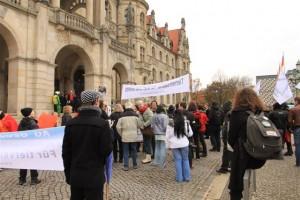 Demo vor dem Rathaus Hannover