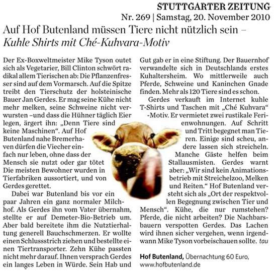 Artikel aus der Stuttgarter Zeitung vom 20.11.2010