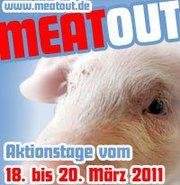 """Mit der Aktion """"Happy-Kuh-Day"""" beteiligen wir uns am 19.3. an der Aktion """"Meatout""""."""