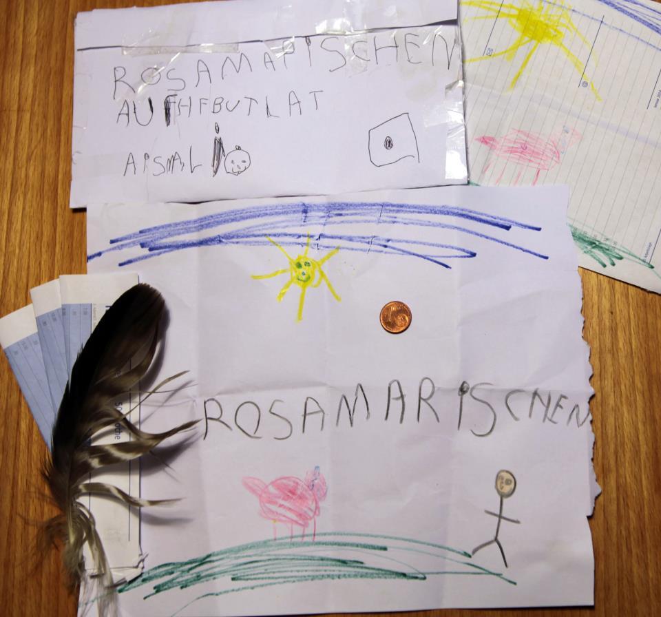 Da hat sich Rosa-Mariechen aber heute saumäßig über den Brief ihres kleinen Paten Ben aus dem Allgäu gefreut.